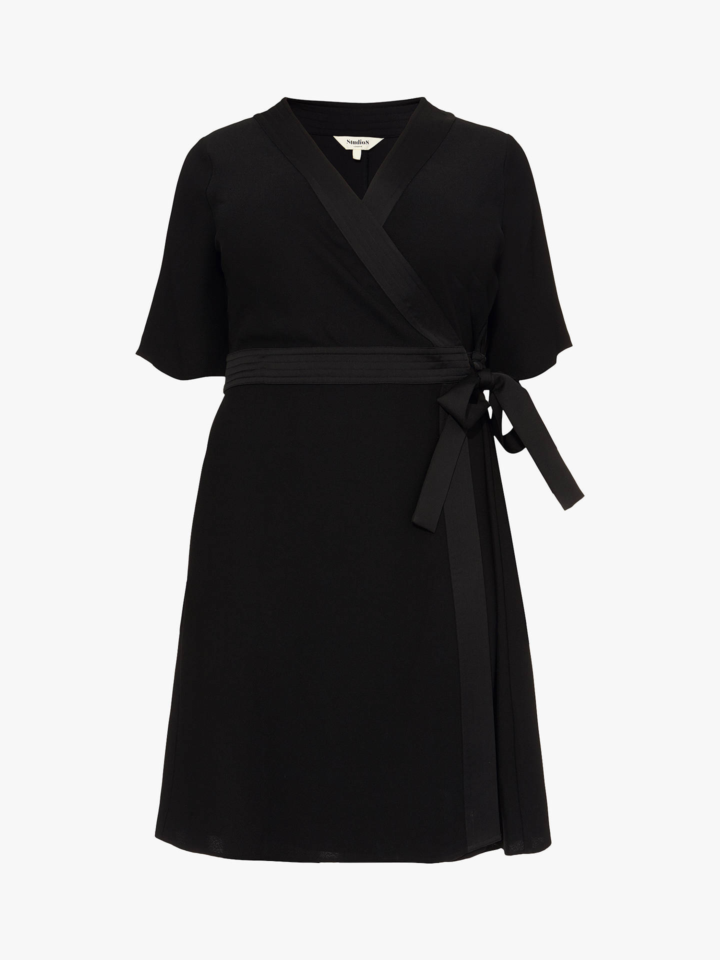 Buy Studio 8 Monica Wrap Dress, Black, 26 Online at johnlewis.com