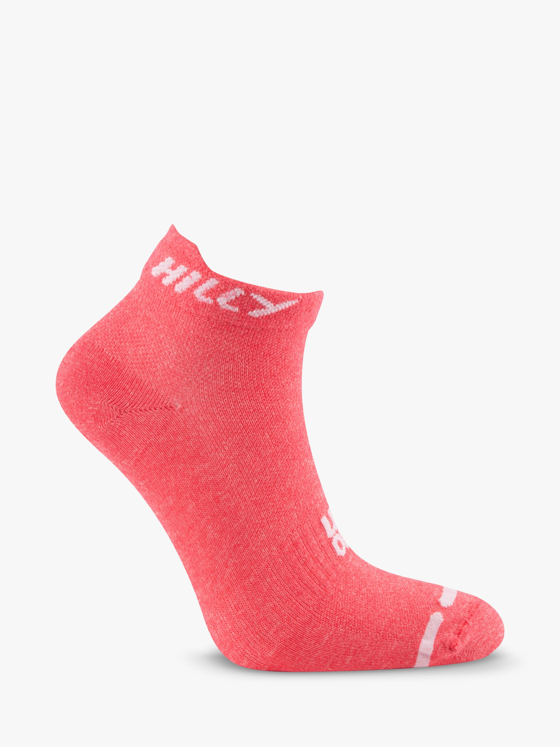 Hilly Hilly Lite Running Socklets, Hot Pink Marl