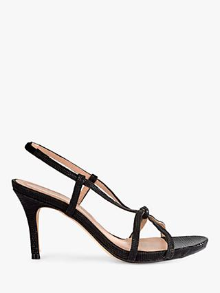 Mint Velvet Phillipa Leather Strappy Heeled Sandals, Black