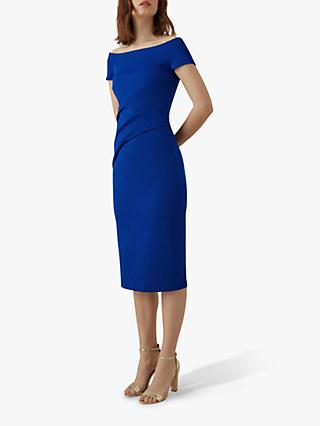 Karen Millen Wrap Effect Dress, Blue