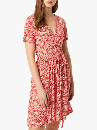 French Connection Elao Wrap Dress, Shanghai Red