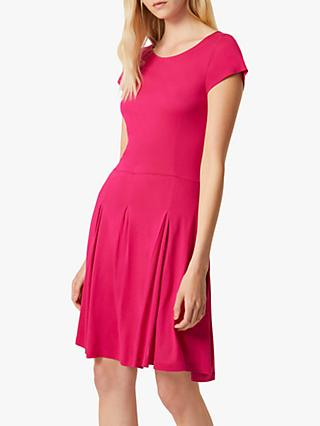 French Connection Meadow Flared Dress, Magenta Haze