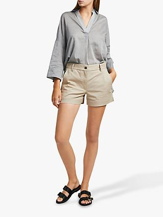 French Connection Ismena High Waisted Shorts, Palm Sand