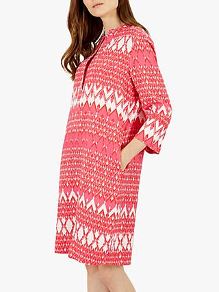 Jaeger Ikat Linen Dress, Red