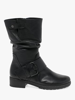 Gabor Diane Leather Extra Wide Fit Calf Boots