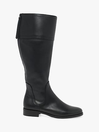 Gabor Keates Leather Calf Boots, Black