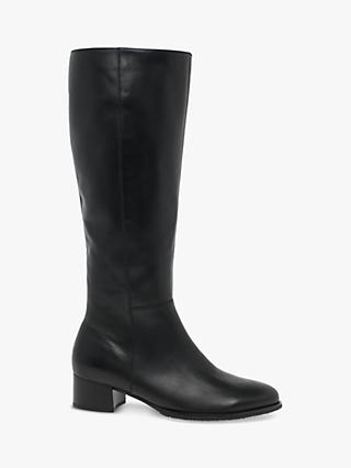 Gabor Dani Leather Calf Boots, Black