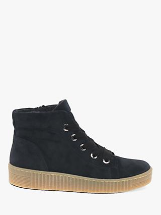 Gabor Messina Suede High Top Trainers, Pacific