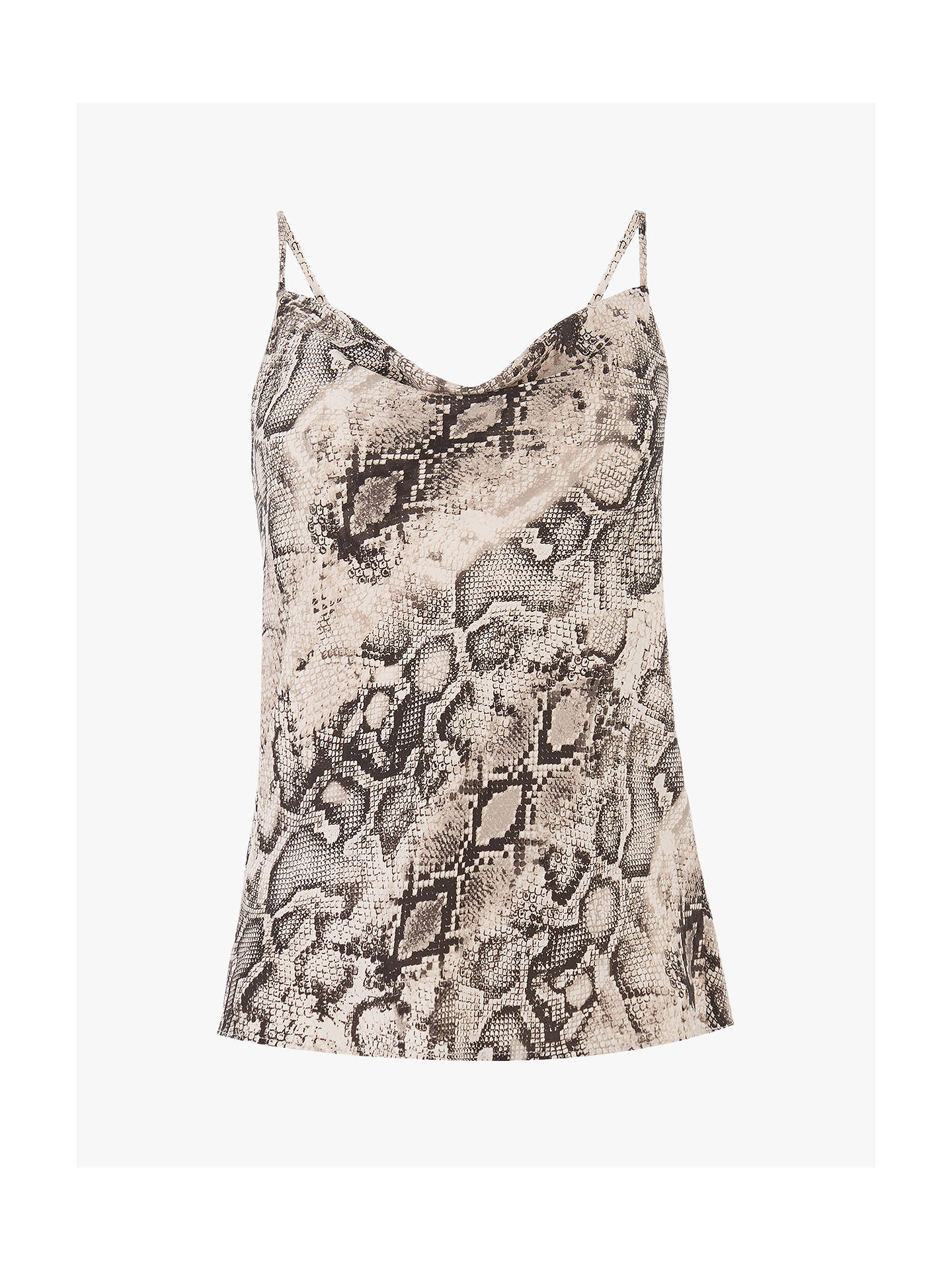 Buy Oasis Snake Print Cowl Neck Cami Top, Multi, 6 Online at johnlewis.com