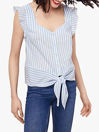 Oasis Stripe Tie Top, Multi