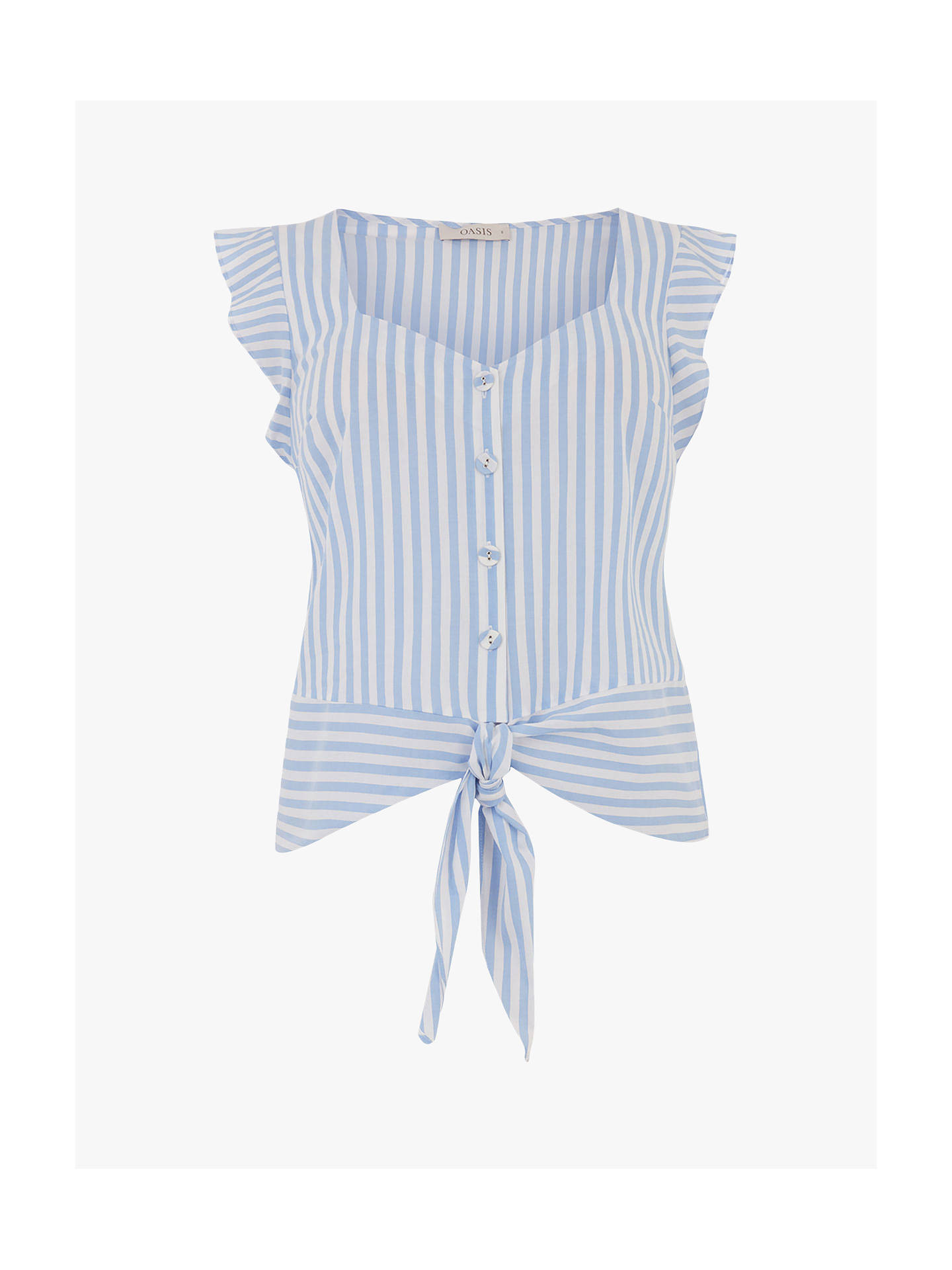 Buy Oasis Stripe Tie Top, Multi, 6 Online at johnlewis.com