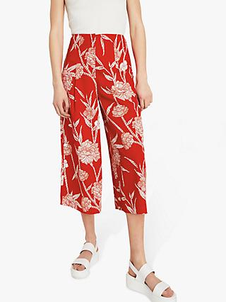 Warehouse Floral Culottes, Red