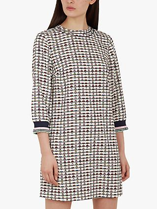 Ted Baker Karleen Triangle Print Dress, Ivory/Multi