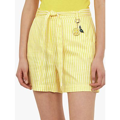 Ted Baker Virua Stripe Lemon Shorts, Mid Yellow