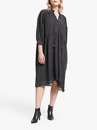 AND/OR Gina Santiago Jacquard Print Dress, Charcoal