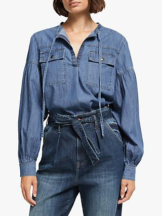 AND/OR Denim Utility Shirt, Blue