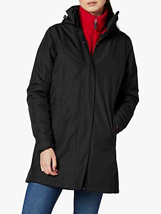 Helly Hansen Aden Women's Long Waterproof Jacket, Black