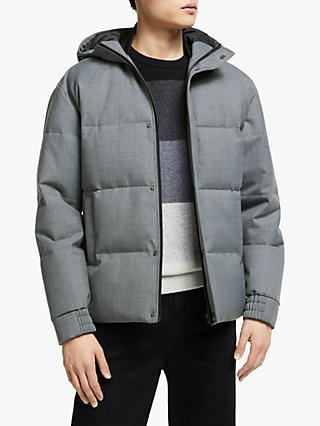 Kin Wool Blend Short Puffer Jacket, Grey