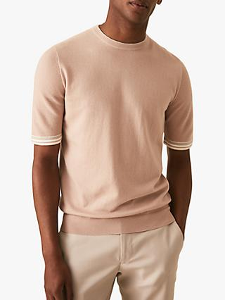 282d745daae Exclusive to John Lewis   Partners. Reiss Titan Tipped Short Sleeve Knit  Top