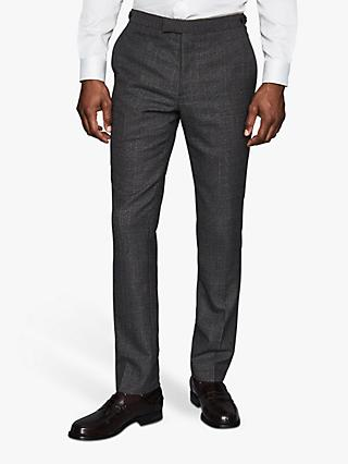 Reiss Move Wool Blend Slim Fit Suit Trousers, Charcoal