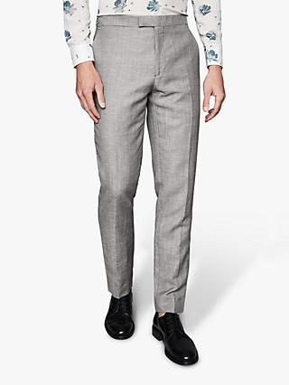 Reiss Dagger Micro Puppytooth Trousers, Grey