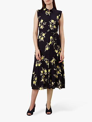 Hobbs Esme Floral Shirt Dress, Navy/Multi