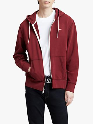 Levi's Original Housemark Zip-Up Hoodie, Warm Cabernet