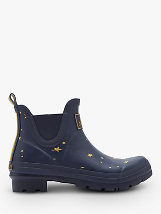 Joules Wellibob Star Gazing Ankle High Wellington Boots, Navy
