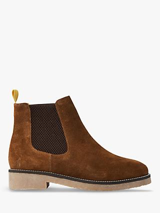 Joules Chepstow Suede Chelsea Boots, Dark Brown