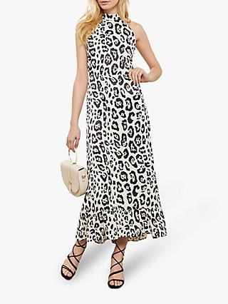 Mint Velvet Salma Animal Maxi Dress, Multi