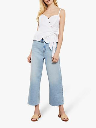 Mint Velvet Madison Wide-Leg Jeans, Light Blue