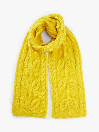 People Tree Leaf Motif Scarf, Yellow