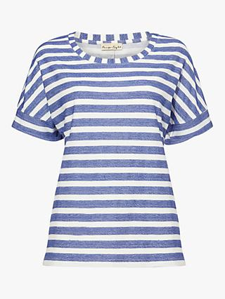 Phase Eight Kitty Stripe T-Shirt, Cobalt/Ivory