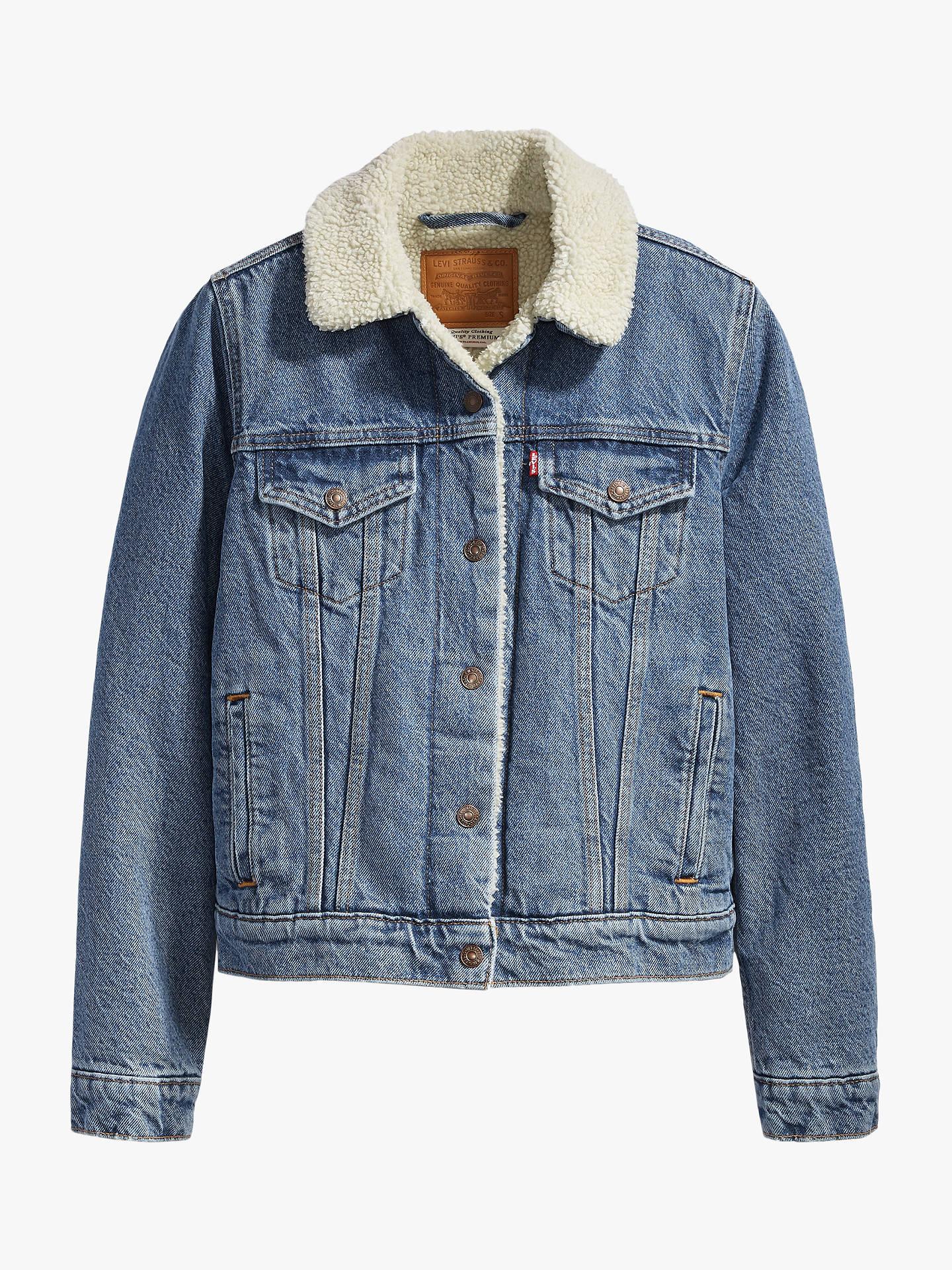 levis-original-sherpa-trim-trucker-jacket,-concrete-indigo by levis