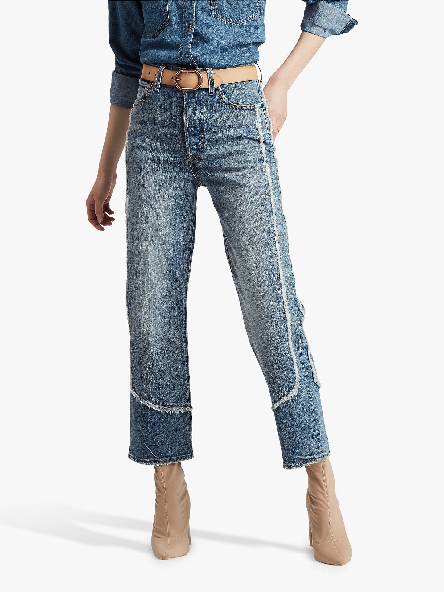 Buy Levi's Ribcage Straight Ankle Jeans, On The Fringe, W27/L27 Online at johnlewis.com