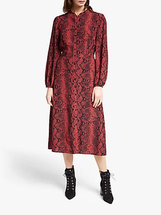 Somerset by Alice Temperley Python Print Shirt Dress, Rust