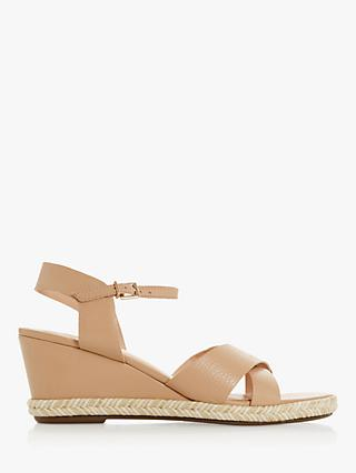 Dune Kiwii Espadrille Trim Wedge Heel Sandals