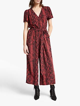 Somerset by Alice Temperley Python Print Jumpsuit, Rust