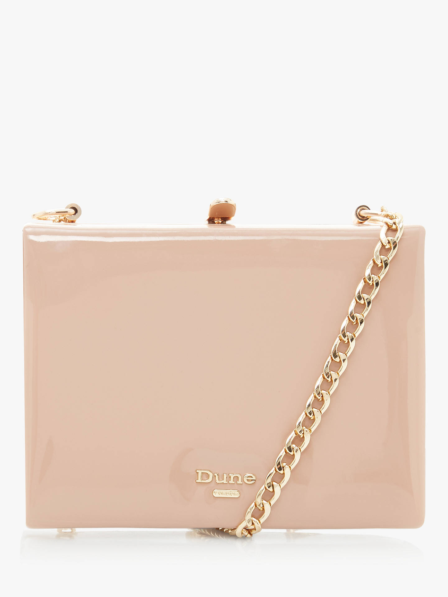 Dune Edenn Metal Frame Shoulder Bag, Cappuccino Patent by Dune