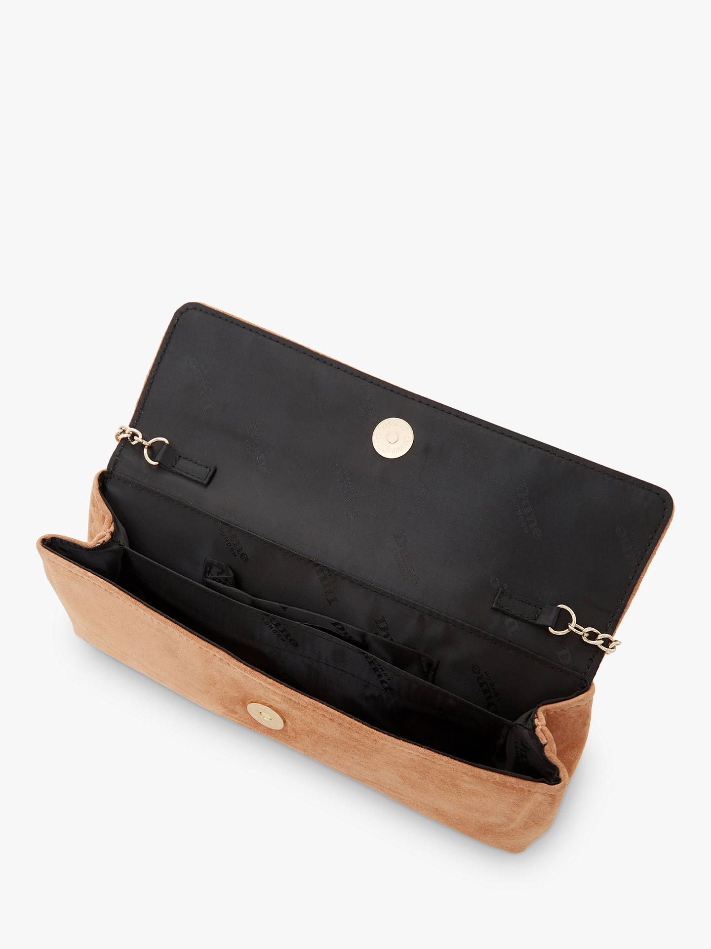 f580ed6a8c ... Buy Dune Belong Suede Slim Clutch Bag, Camel Online at johnlewis.com