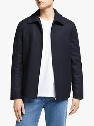 Kin Italian Wool Blend Harrington Jacket, Navy