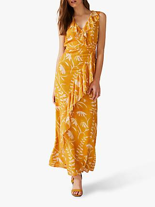 Phase Eight Natala Palm Maxi Dress, Apricot