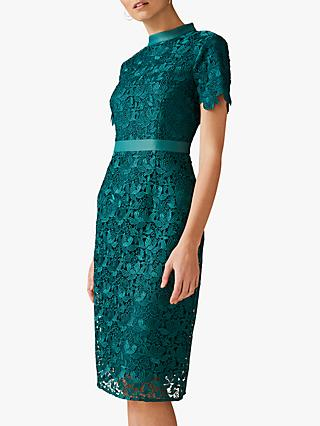 Phase Eight Marietta Guipure Lace Dress, Jade