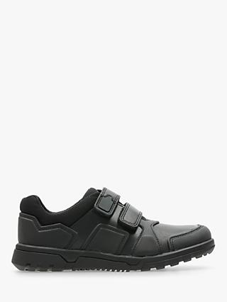 Clarks Children's Blake Street Leather Shoes, Black