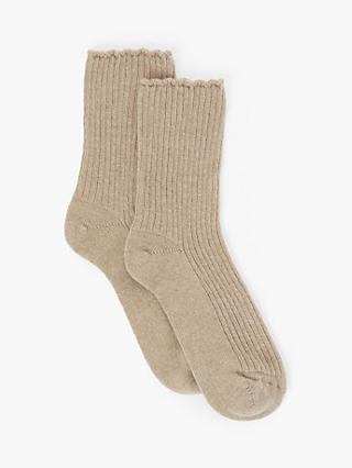 John Lewis & Partners Pure Cashmere Bed Ankle Socks