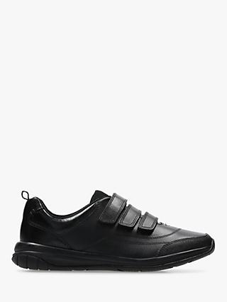 Clarks Children's Hula Thrill Shoes, Black Leather