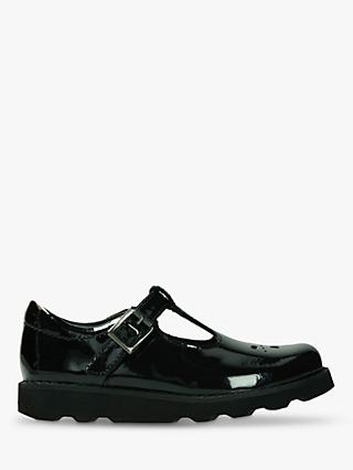 Clarks Children's Crown Wish Shoes, Black Patent