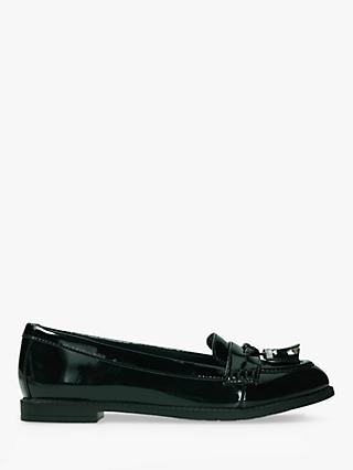Clarks Children's Preppy Prize Shoes, Black Leather