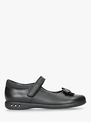 Clarks Children's Prime Skip Shoes, Black Leather