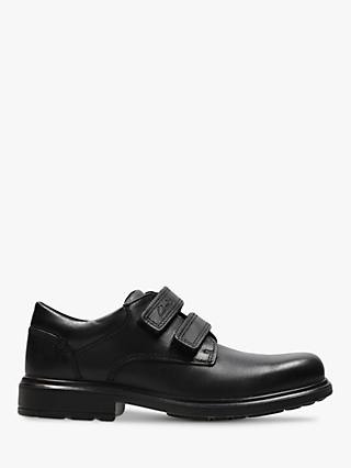 Clarks Children's Remi Pace Shoes, Black Leather